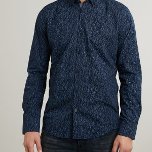 PME Legend Long Sleeve Shirt Poplin With All-Over