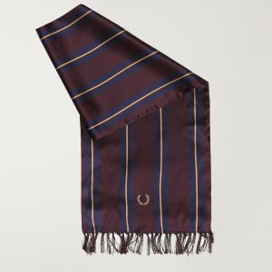 Fred Perry Striped silk scarf